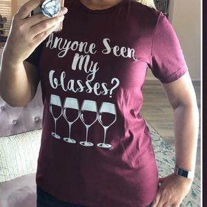 Tops - Restocked S-2XL Sassy funny wine lover graphic tee